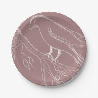 singing bird paper plate