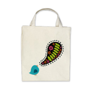 Singing Bluebird Eco Friendly Tote Tote Bag