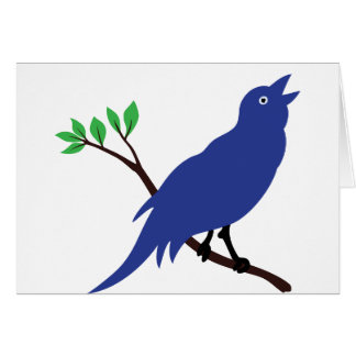 Singing Bluebird Greeting Card