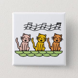 Singing Cat 15 Cm Square Badge