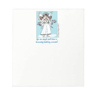 Singing Christmas Angel notepad