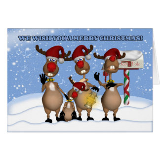Singing Christmas Reindeer Greeting Card From All