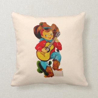 Singing Cowboy Kid Cushion