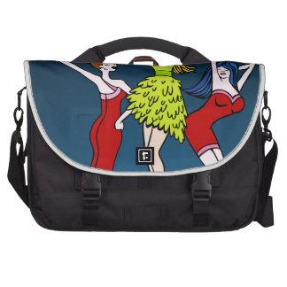 Singing Diva Musical Artist Cartoon Character Laptop Commuter Bag