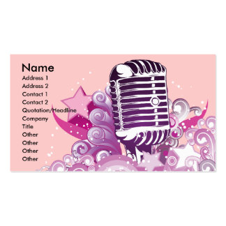 singing diva vintage microphone vector Double-Sided standard business cards (Pack of 100)