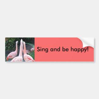 Singing Flamingos Bumper Sticker