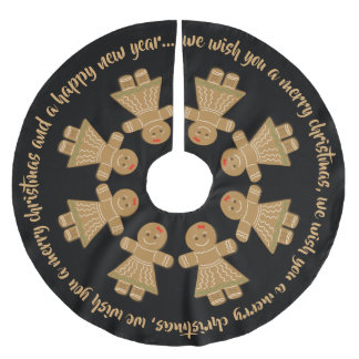 Singing Gingerbread Cookies Brushed Polyester Tree Skirt