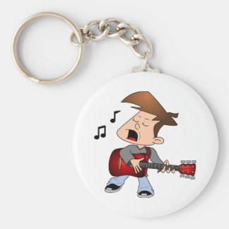 Singing Guitar Player Key Ring