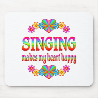 Singing Heart Happy Mousepads