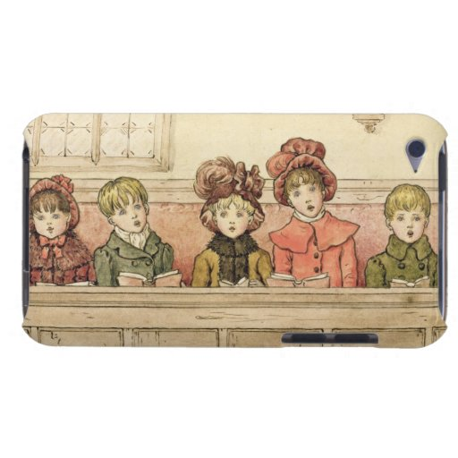 Singing in church (w/c on paper) Case-Mate iPod touch case
