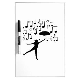 Singing in The Rain Dry Erase Board