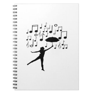 Singing in The Rain Notebook
