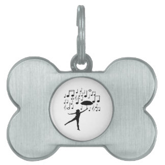 Singing in The Rain Pet ID Tag