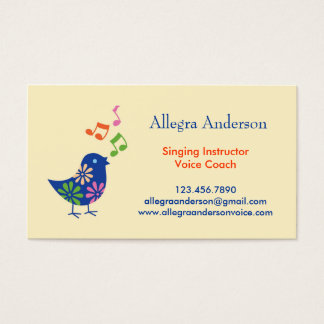 Singing Instructor Business Card