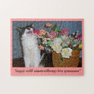 Singing Kitty Valenpuzzle! Jigsaw Puzzle