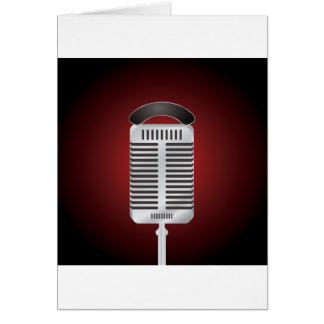Singing Microphone Greeting Cards