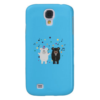 Singing Party Bears Q1Q Samsung Galaxy S4 Cover