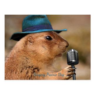 Singing Prairie Dog Postcard