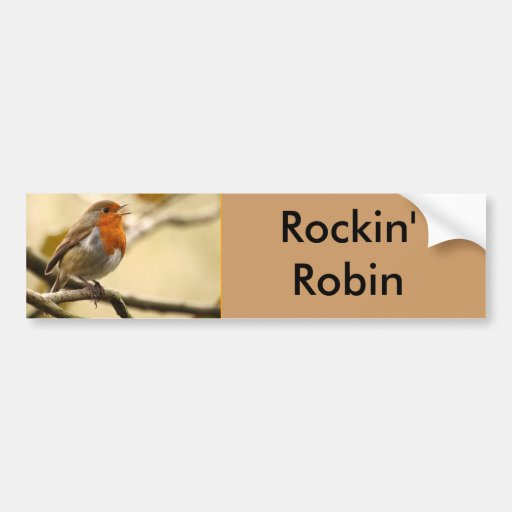 Singing Robin Bumper Stickers