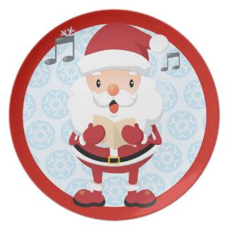 Singing Santa Christmas Plate
