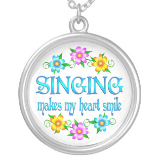 Singing Smiles Silver Plated Necklace