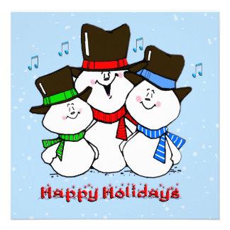 Singing Snowmen Christmas Invitation