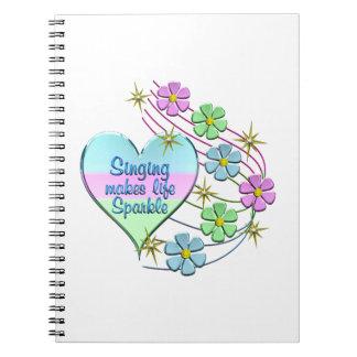 Singing Sparkles Spiral Notebook