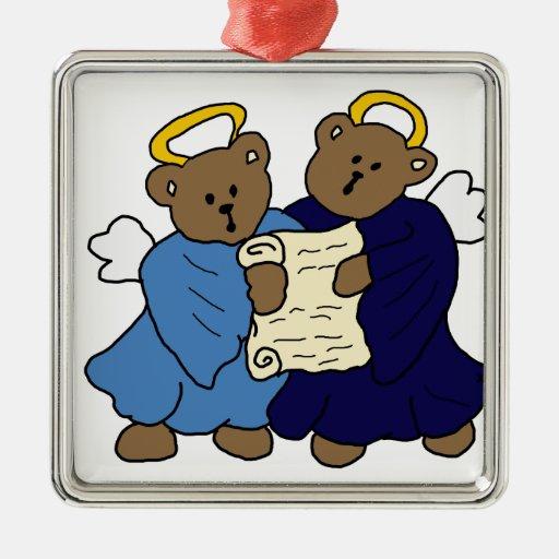 Singing Teddy Bear Angels Christmas Tree Ornaments