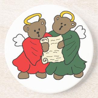 Singing Teddy Bear Angels Drink Coaster