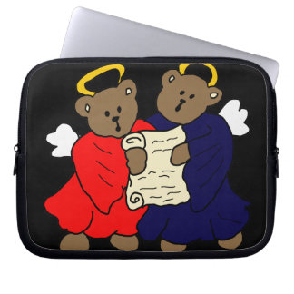 Singing Teddy Bear Angels Laptop Sleeve