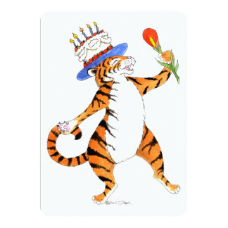 Singing Tiger Birthday Party Invitation