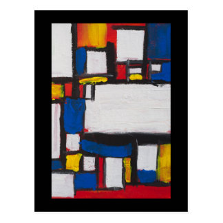 Singing with Mondrian Postcard