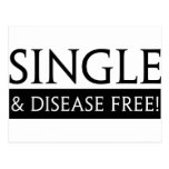 Single And Disease Free! Postcards