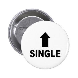 Single Arrow 6 Cm Round Badge