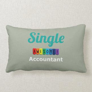 Single Awesome Accountant Lumbar Pillow