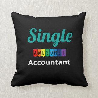 Single Awesome Accountant Throw Pillow