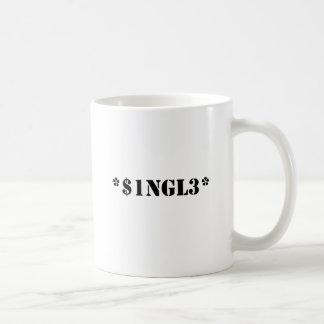 single basic white mug