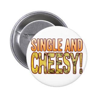 Single Blue Cheesy 6 Cm Round Badge