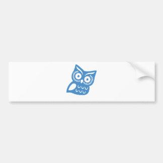 Single Blue Owl Car Bumper Sticker