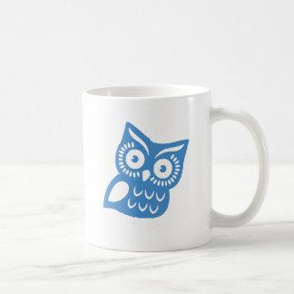 Single Blue Owl Coffee Mug