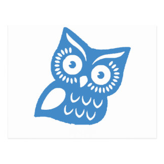 Single Blue Owl Postcard