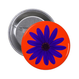 single blue/purple daisy flower button
