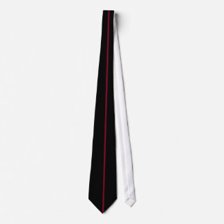 Single Burgundy Stripe on Black Tie