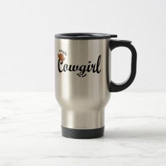 single cowgirl yeehaw travel mug