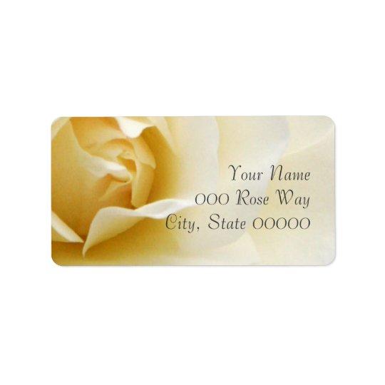 Single Creamy White Rose Wedding Address Labels