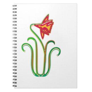 Single Flower Illustration Art on gifts Spiral Notebooks