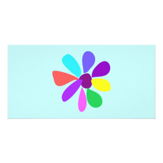 Single Flower Customized Photo Card
