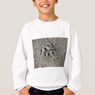 Single footprint of seagull bird on beach sand sweatshirt