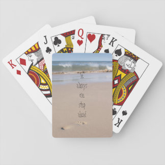 Single Footprint on the Beach Playing Cards