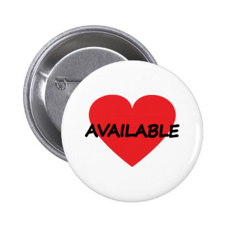 single heart available 6 cm round badge